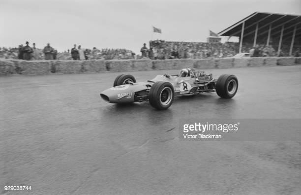 British Formula One racing driver Jackie Stewart driving Matra-Cosworth MS10 at the Dutch Grand Prix, Circuit Park Zandvoort, Zandvoort, Netherlands,...