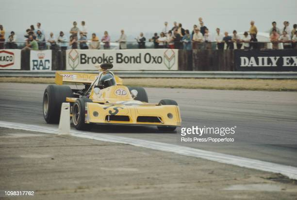 British Formula One racing driver Mike Beuttler drives the March 731 Cosworth V8 for the ClarkeMordauntGuthrieDurlacher team to finish in 11th place...