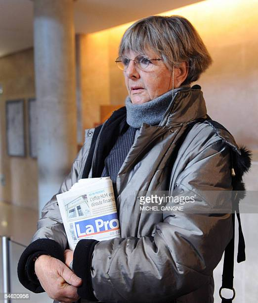 British Frances AshleyCooper sister of late Antony AshleyCooper 10th Earl of Shaftesbury arrives at AixenProvence courtouse southern France for the...