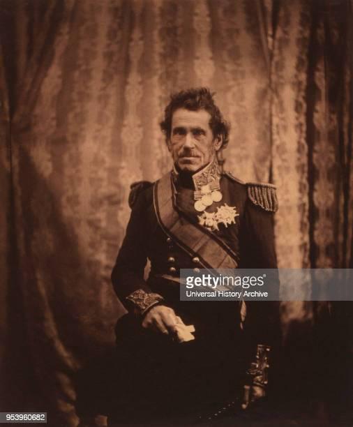 British General Sir George de Lacy Evans, Three-Quarter Length Portrait in Dress Uniform, Crimean War, Crimea, Ukraine, by Roger Fenton, 1855.