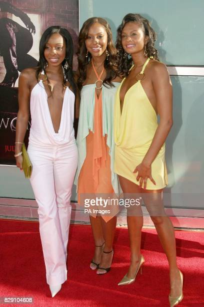 British girlband MisTeeq arrive for the premiere of the film Catwoman held at the Cinerama Dome Theatre Los Angeles USA