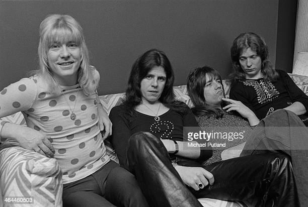 British glam rock group The Sweet 16th January 1974 Left to right Brian Connolly Mick Tucker Andy Scott and Steve Priest