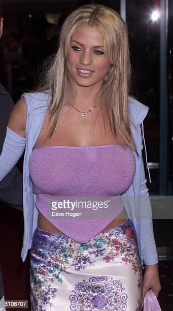British glamour model Jordan arrives at the UK premiere of the film Any Given Sunday on March 29 2000 in London