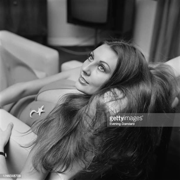 British glamour model Marilyn Cole, UK, 29th December 1971. She was Playboy magazine's Playmate of the Month for January 1972.