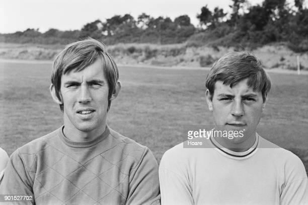 British goalkeeper Bill Glazier and midfielder Ernie Machin of Coventry City FC UK 23rd August 1968