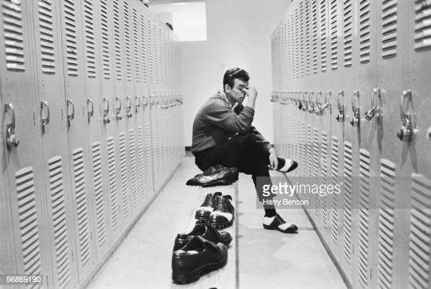 British golfer Tony Jacklin has a quiet moment to himself in the locker room during the Florida Citrus Open Invitational golf tournament at the Rio...