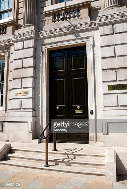 british government cabinet office in whitehall - whitehall london stock photos and pictures