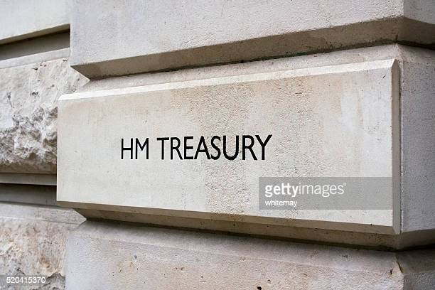 British Government Treasury sign