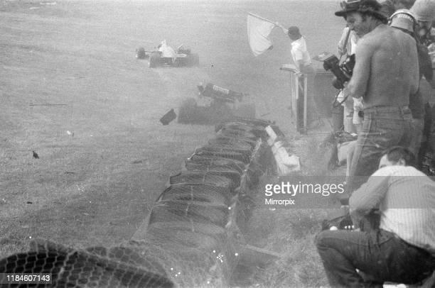 British Grand Prix, Brands Hatch, Sunday 22nd July 1984; pictured: Accident involving Jo Gartner and Philippe Alliot .