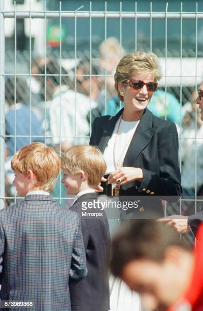 British Grand Prix Silverstone Northamptonshire England Sunday 10th July 1994 our picture shows Princess Diana attends the 1994 British Grand Prix...