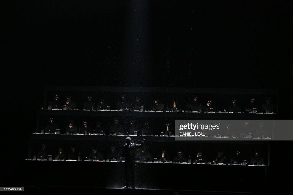 BRITAIN-ENTERTAINMENT-MUSIC-AWARD-BRITS : Nachrichtenfoto