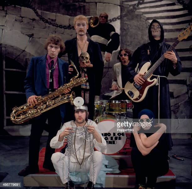 1968 British group Bonzo Dog DooDah Band posed with instruments in 1968 The line up includes Vivian Stanshall Neil Innes 'Legs' Larry Smith Roger...