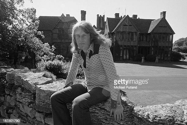 British guitarist and singer Alvin Lee of rock group Ten Years After at home at Hook End Manor later Hookend Recording Studios Oxfordshire 15th June...