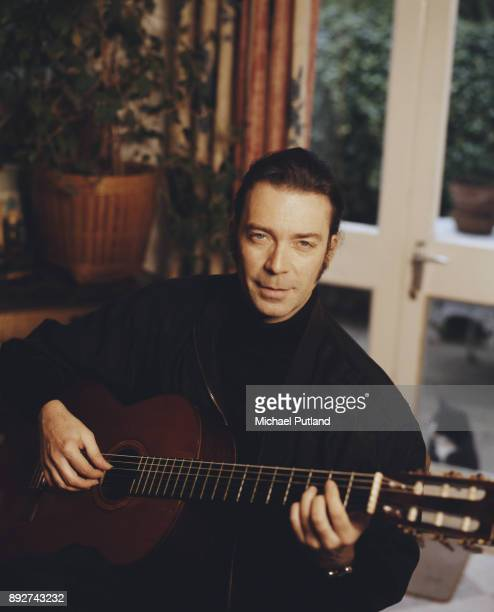 British guitarist and songwriter Steve Hackett in a recording studio March 1997