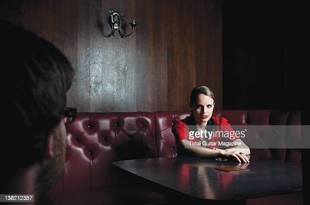 British guitarist and vocalist Anna Calvi During a portrait shoot for Total Guitar Magazine May 2 2011
