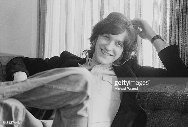 British guitarist Dave Davies of The Kinks at a record company office in London 11th April 1975