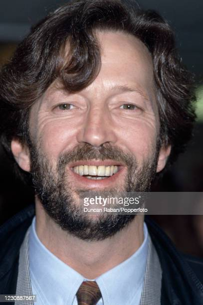 British guitarist Eric Clapton attending the Ivor Novello Awards at the Grosvenor House Hotel in London, England on April 7, 1986.