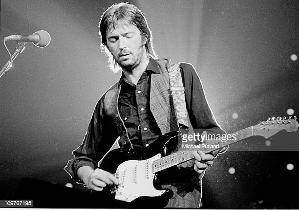 British guitarist Eric Clapton performing on stage at the Nassau Coliseum in Long Island New York on June 30 1974