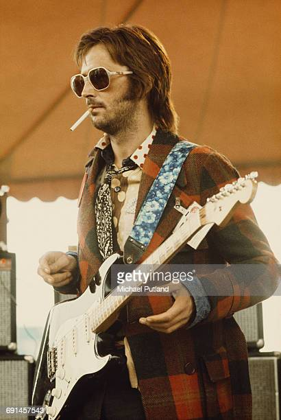 British guitarist Eric Clapton performing on stage in Philadelphia during his US tour in 1974. (Photo by Michael Putland/Getty Images