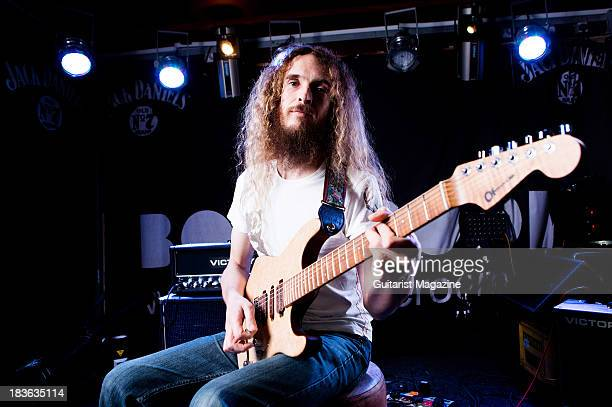 British guitarist Guthrie Govan photographed during a portrait shoot at The Boileroom in Guildford February 18 2013