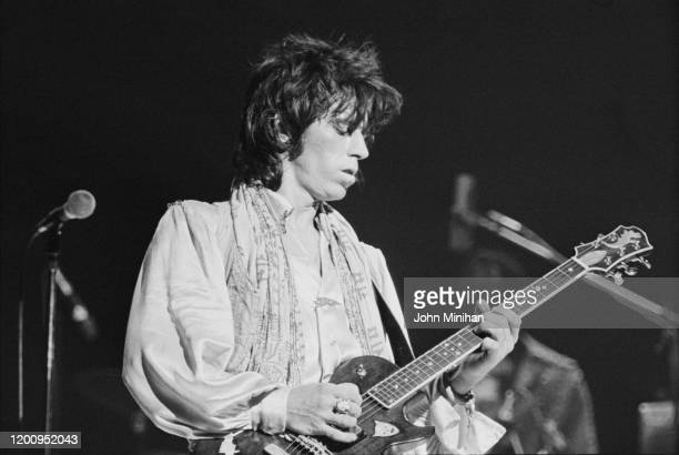 British guitarist Keith Richards as The Rolling Stones perform at Earls Court as part of their Tour of Europe '76 London England May 1976