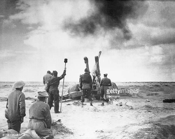 British Gunners Blast Rommel's Afrika Korps 1941