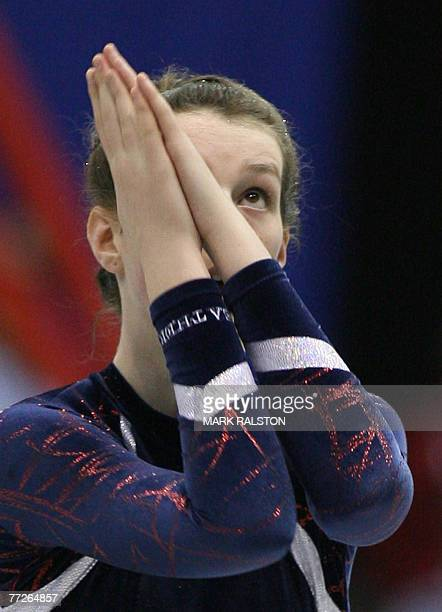 British gymnast Heather Askew competes in the floor exercises at the gymnastic events of the Special Olympics World Summer Games in Shanghai, 10...
