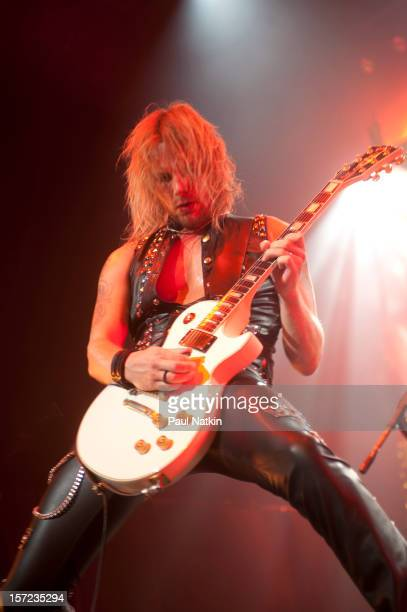 British heavy metal group Judas Priest perform onstage at the Venue in the Horseshoe Casino Hammond Indiana November 12 2011 Pictured is guitarist...