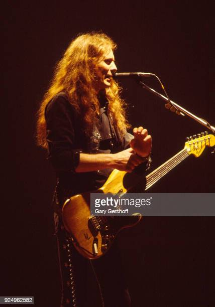 British Heavy Metal musician Fast Eddie Clarke of the group Motorhead plays guitar as he performs onstage at the Palladium New York New York May 14...