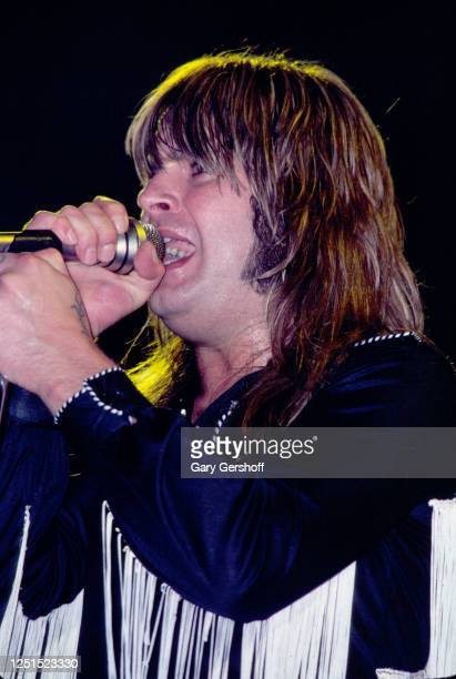 British Heavy metal singer Ozzy Osbourne performs, during the 'Blizzard of Ozz Tour,' onstage at Nassau Coliseum, Uniondale, New York, August 14,...