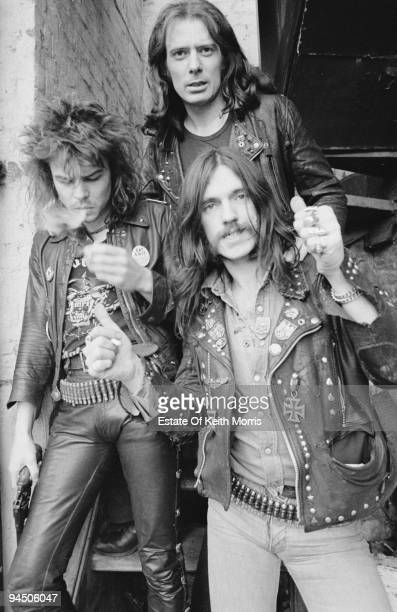 British heavy rock band Motorhead London 1978 Left to right drummer Phil 'Philthy Animal' Taylor guitarist 'Fast' Eddie Clarke and bassist and singer...