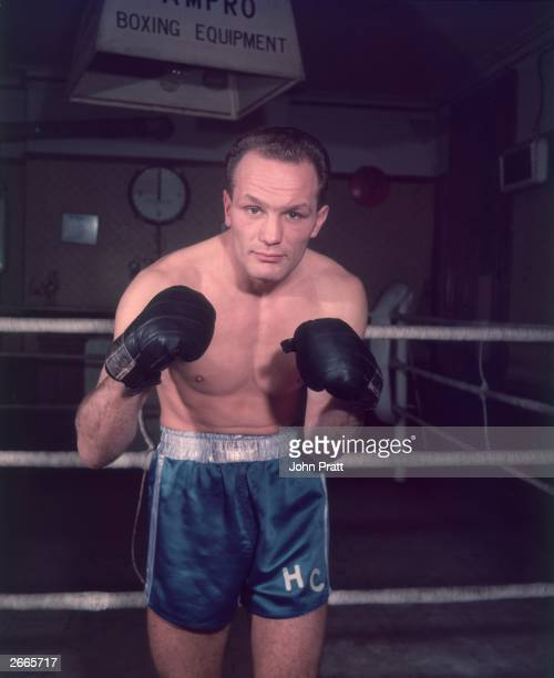 British heavyweight boxer Henry Cooper future contender for the World Title with his strong left punch nicknamed 'Henry's Hammer'