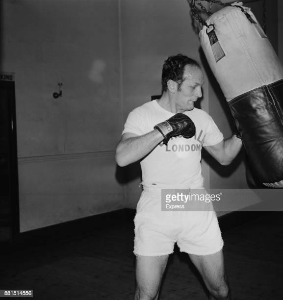 British heavyweight boxer Henry Cooper training for his fight against Joe Bugner UK 20th February 1971