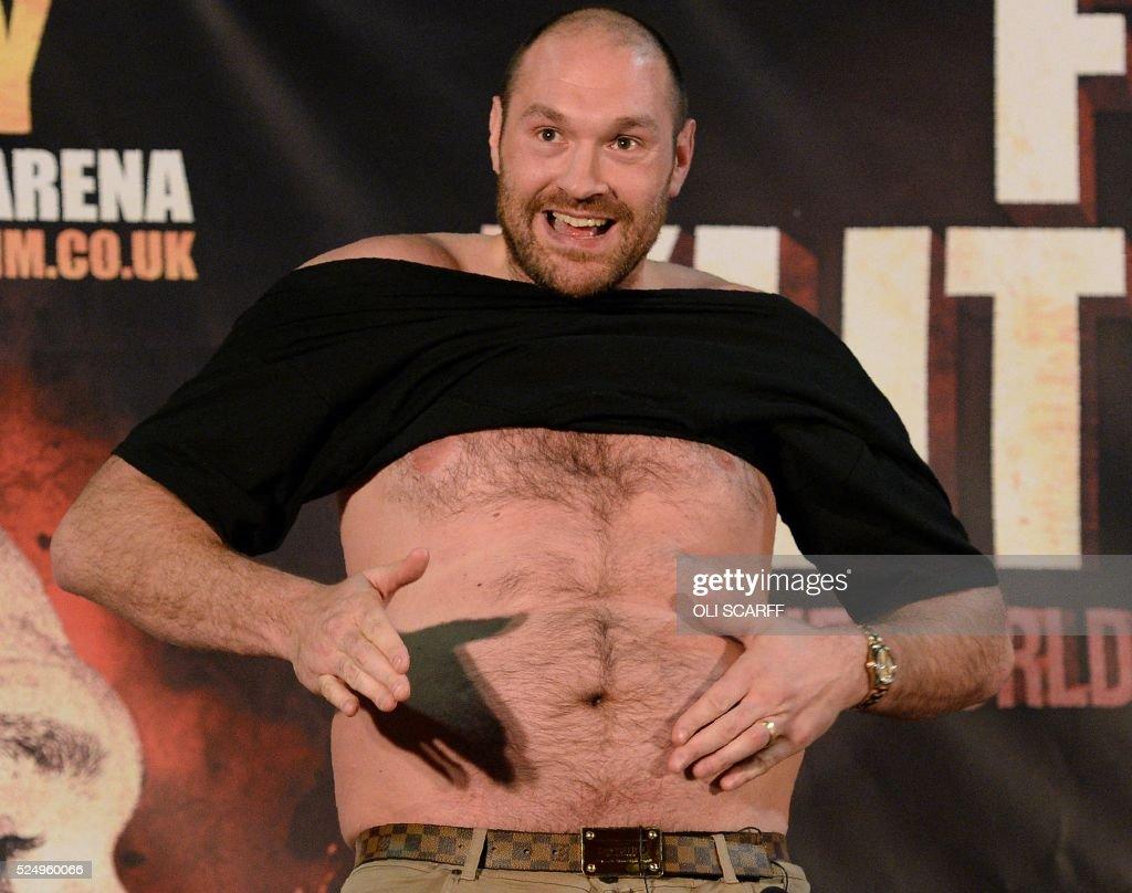 BOX-GBR-UKR-FURY-KLITSCHKO-HEAVY-WBA-WBO : News Photo