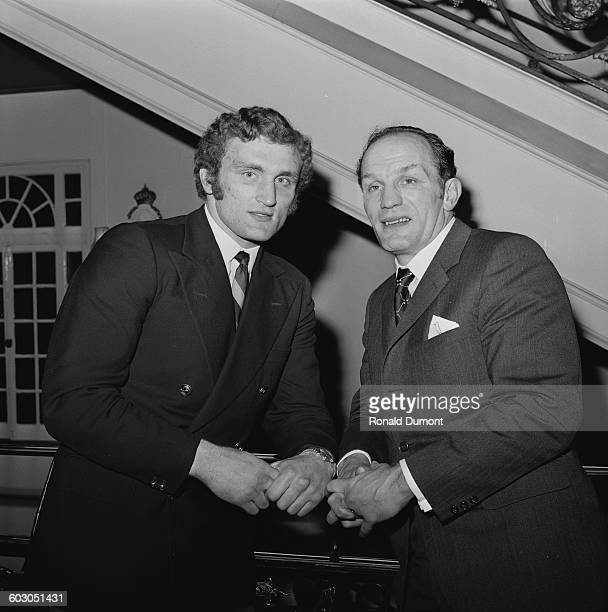 British heavyweight boxers Joe Bugner and Henry Cooper at the Cafe Royal in London UK 20th January 1971