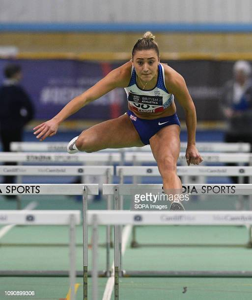 British Heptathlete Niamh Emerson in action during the Welsh Senior Athletics Championships / Combined events Indoor International 2019 at NIAC in...