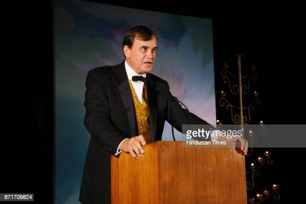 British High Commissioner Sir Dominic Asquith during the fundraiser for Lepra India Trust at the residence of the British High Commissioner Sir...