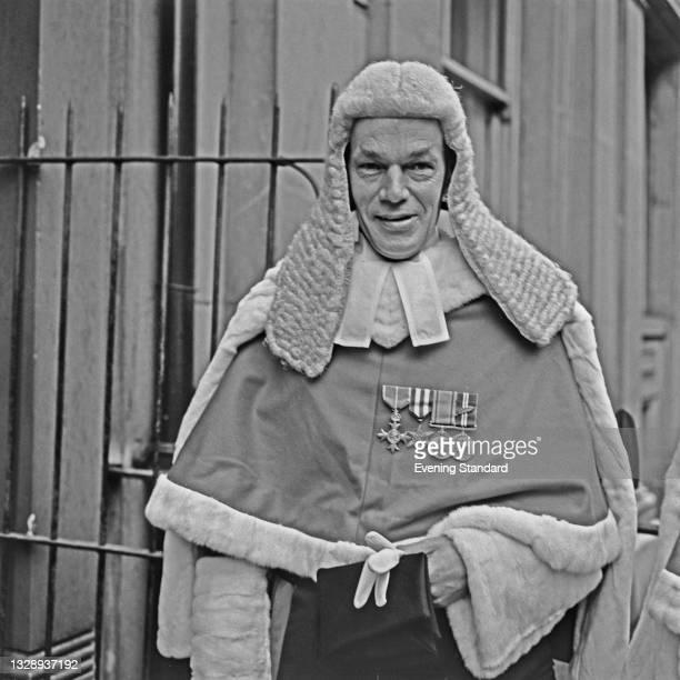 British High Court judge Alan Stewart Orr, Mr Justice Orr , UK, 5th October 1965.