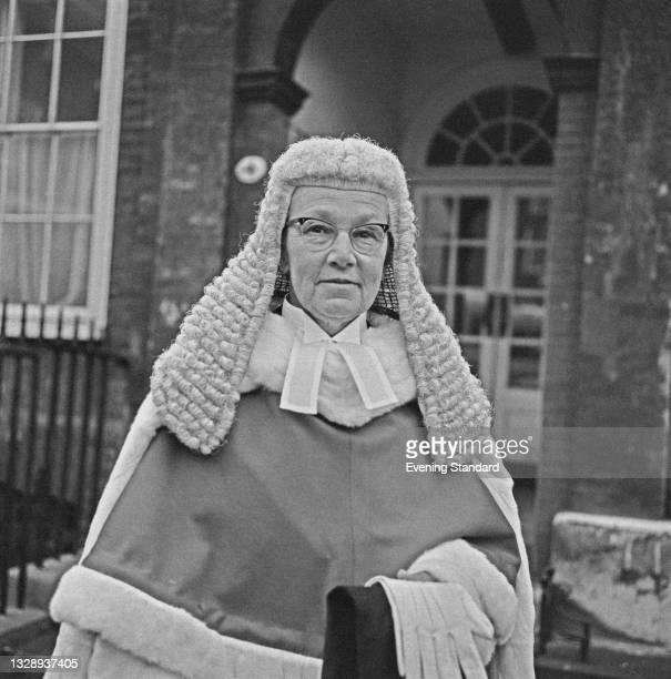 British High Court judge Elizabeth Lane, Mrs Justice Lane , UK, 4th October 1965.