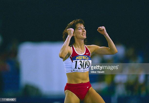 British high jump champion Jo Jennings competes in the Commonwealth Games at the National Stadium, Bukit Jalil, in Kuala Lumpur, 21st September 1998.