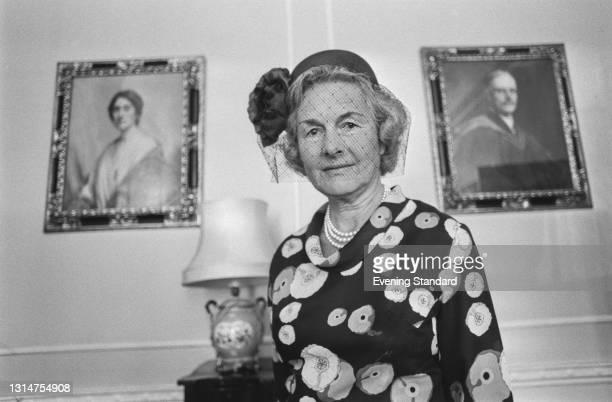 British historian Elizabeth Pakenham, Countess of Longford , UK, 3rd August 1974. She is the wife of Frank Pakenham, the 7th Earl of Longford.