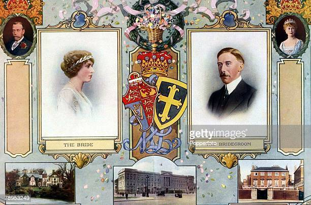 British History Royalty Colour poster Poster shows the forthcoming wedding of the Princess Victoria the Princess Royal to Henry Lascelles 6th Earl of...