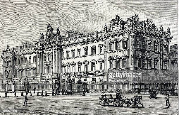 British History Royalty Illustration Circa 1880 Buckingham Palace London royal residence of Queen Victoria