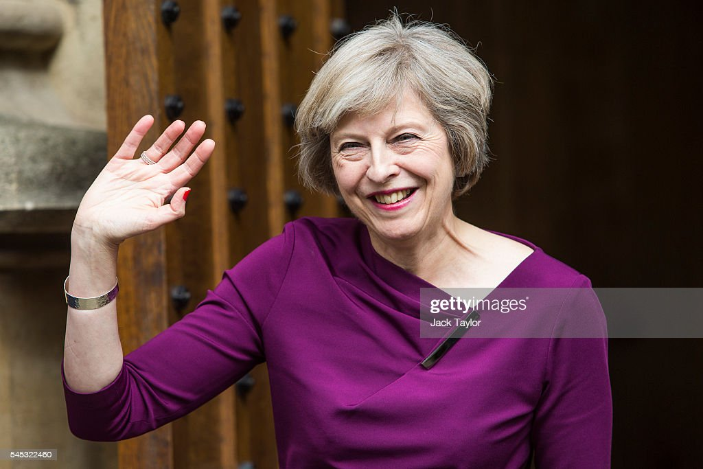 Theresa May Remains The Favourite To Become Conservative Party Leader : News Photo
