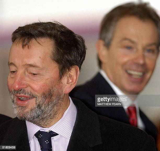 British Home Secretary David Blunkett and Prime Minister Tony Blair arrive at London's Horseguards Parade, 01 December prior to the arrival of South...