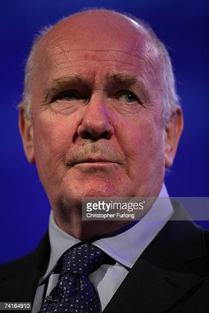 British Home Secretary John Reid addresses delegates attending the Police Federation Conference at Winter Gardens on May 16 2007 in Blackpool England...