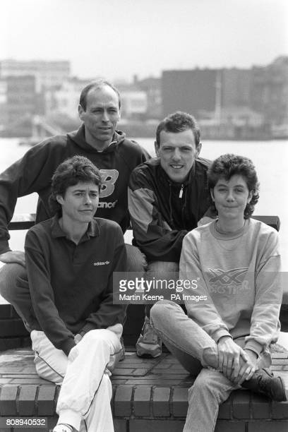 British hopefuls for the 1989 ADT London Marathon Mike McLeod Elswick's 1984 Olympics 10000 metres silver medalist Kevin Forster who came second in...