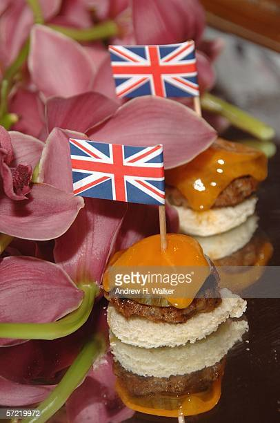 British hors d'oeuvres passed at the launch of Ben Sherman's first official US Flagship Store on March 30 2006 in New York City