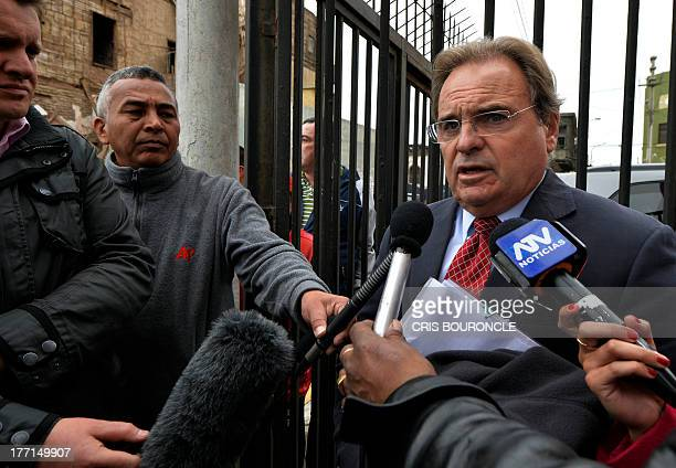 British Human Rights lawyer Peter Madden who represents 20yearold Irishwoman Michaella McCollum indicted on charges of trying to smuggle cocaine out...