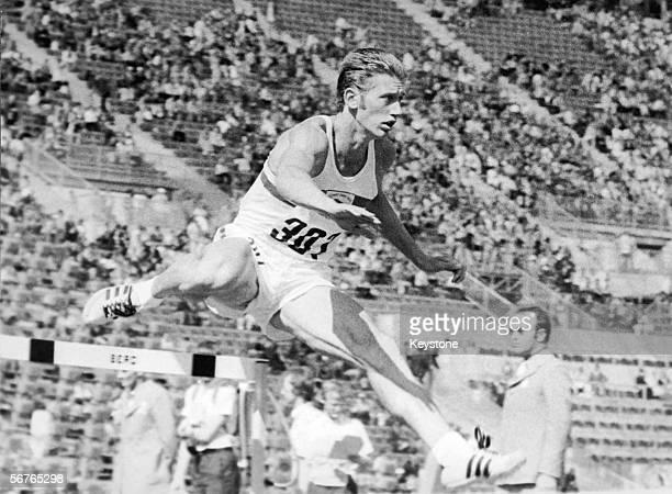 British Hurdler John Sherwood competing in the 400Metres Hurdles at the Munich Olympics 1972